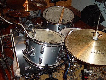 Drum set up @ inner ear