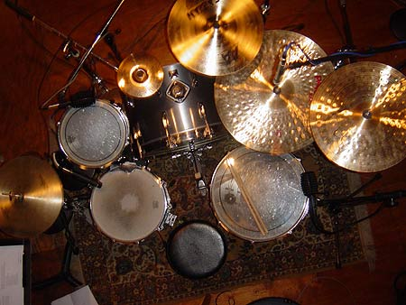 birdseye view of my drums
