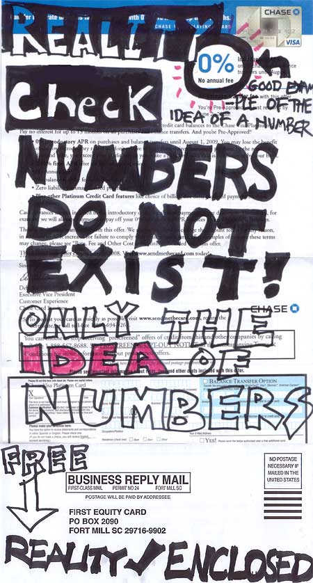 Numbers do not exist