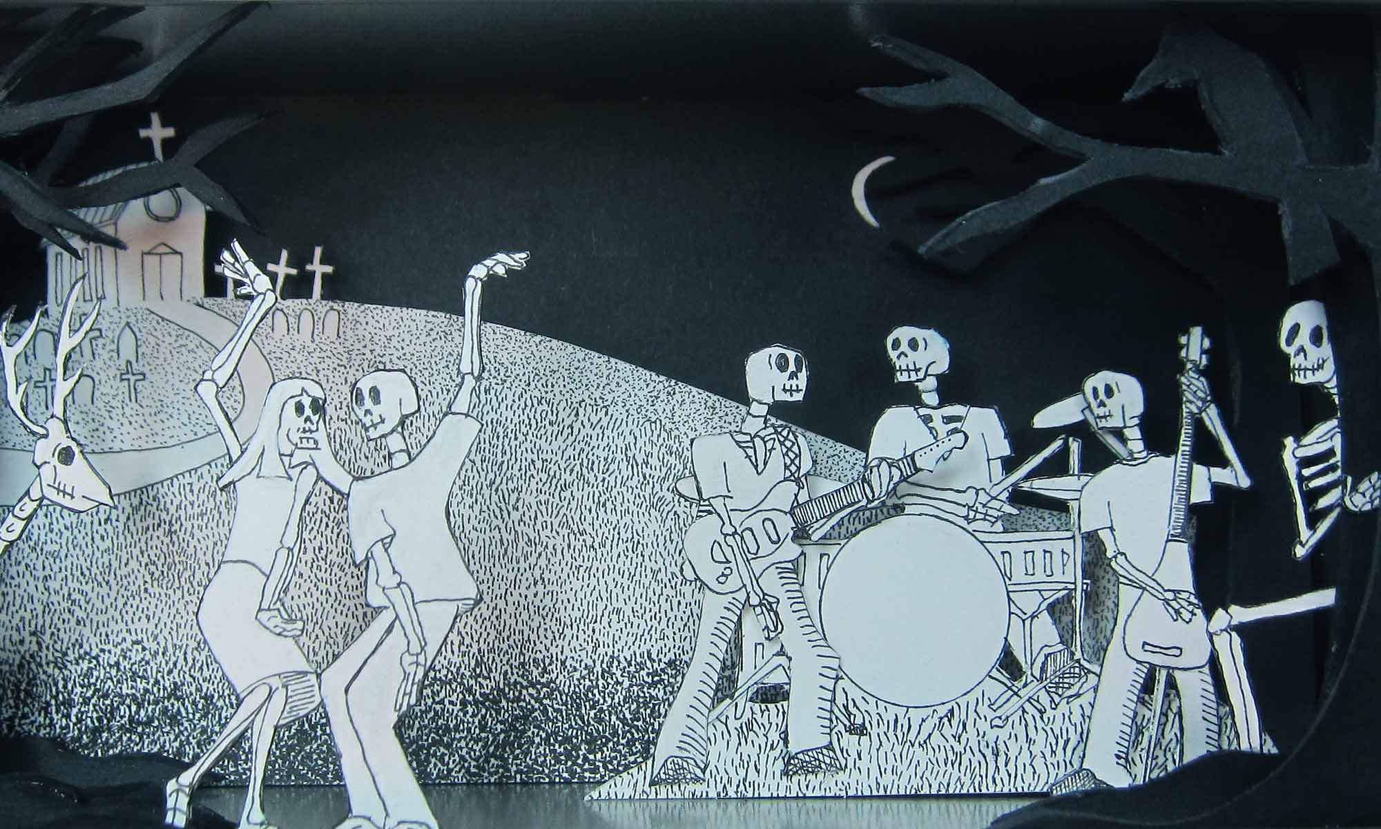 Jim Doran's Skeletons dancing