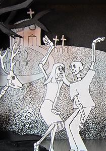 Paper Skeletons Dancing