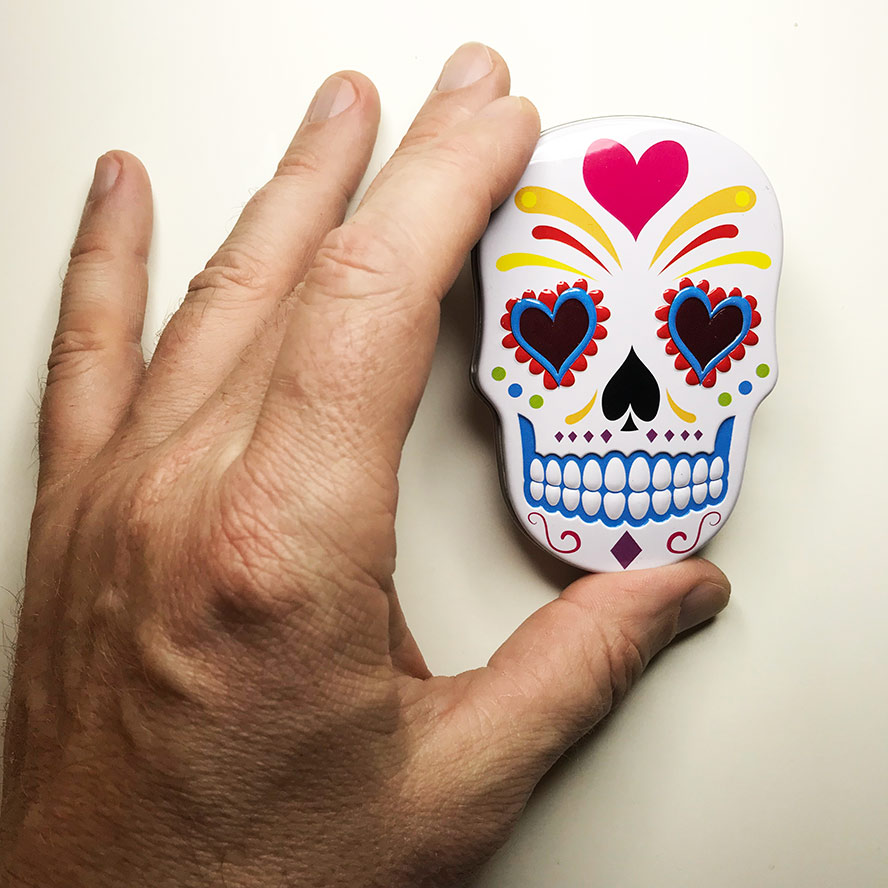Day of the Dead Sugar Skull Tin