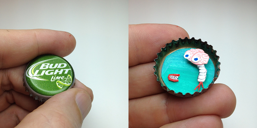 Bottle Cap Diorama