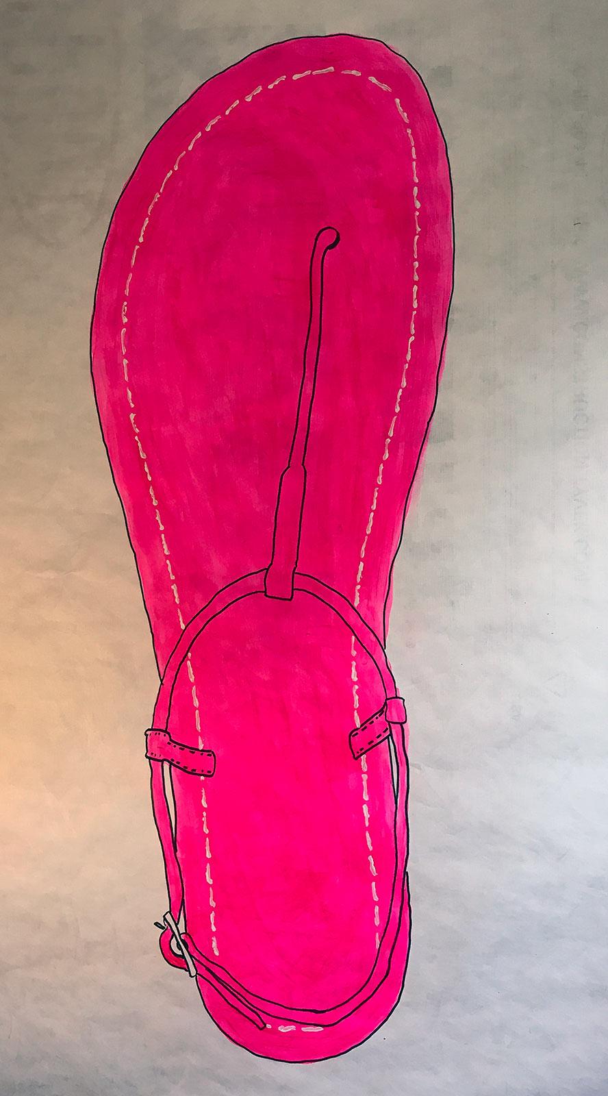 Bernardo Lilly Sandal Drawing