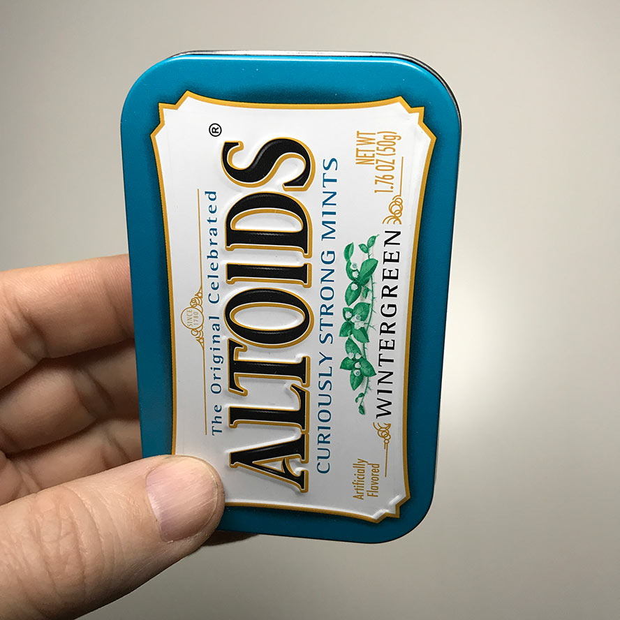 Closed Altoids tin
