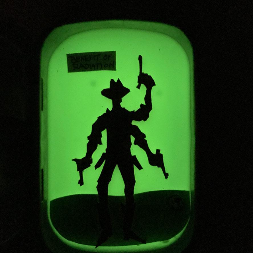 The Sheriff, glowing