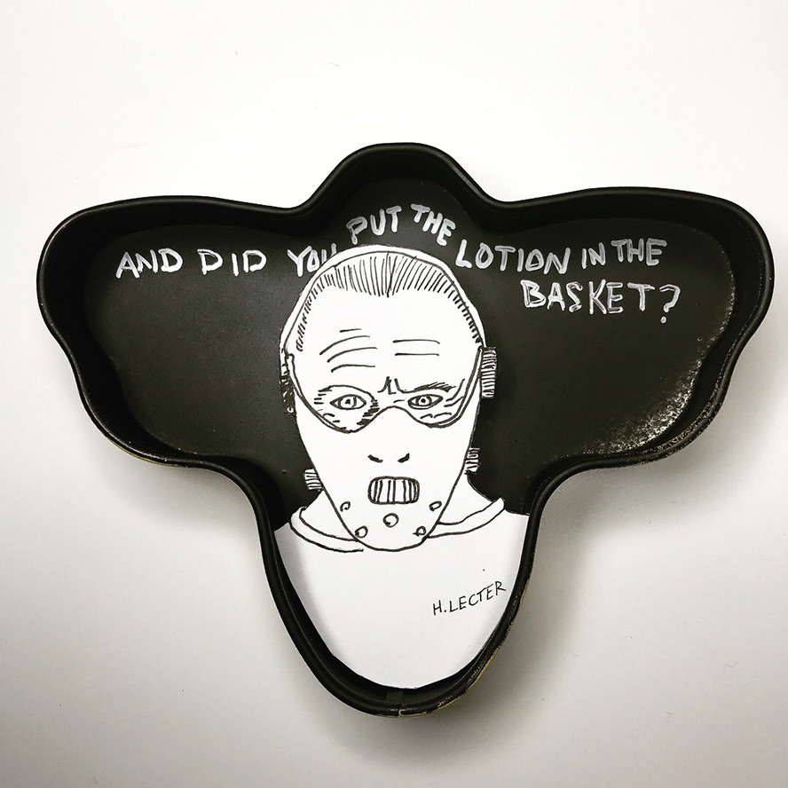 Hannibal Lecter paper cutout