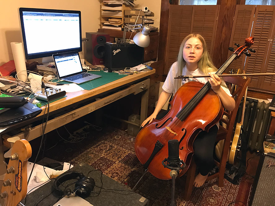 Leezle and her cello, Linda.