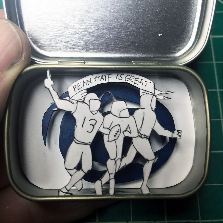 Penn State playes in an altoids smalls tin