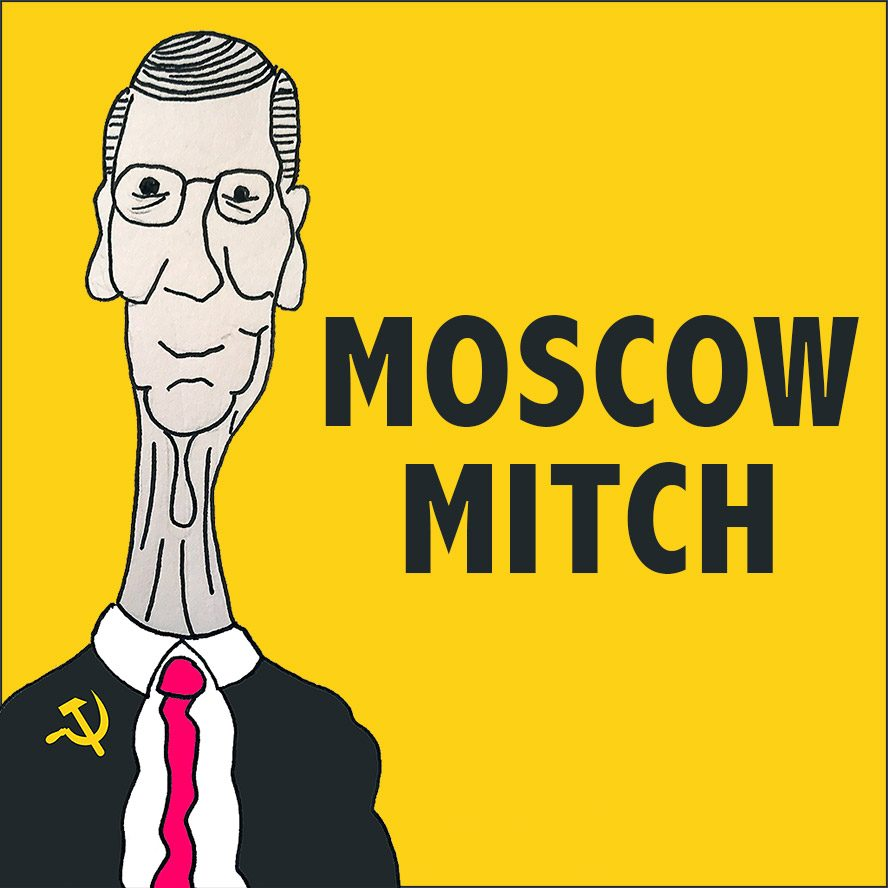 Moscow Mitch Cartoon Drawing