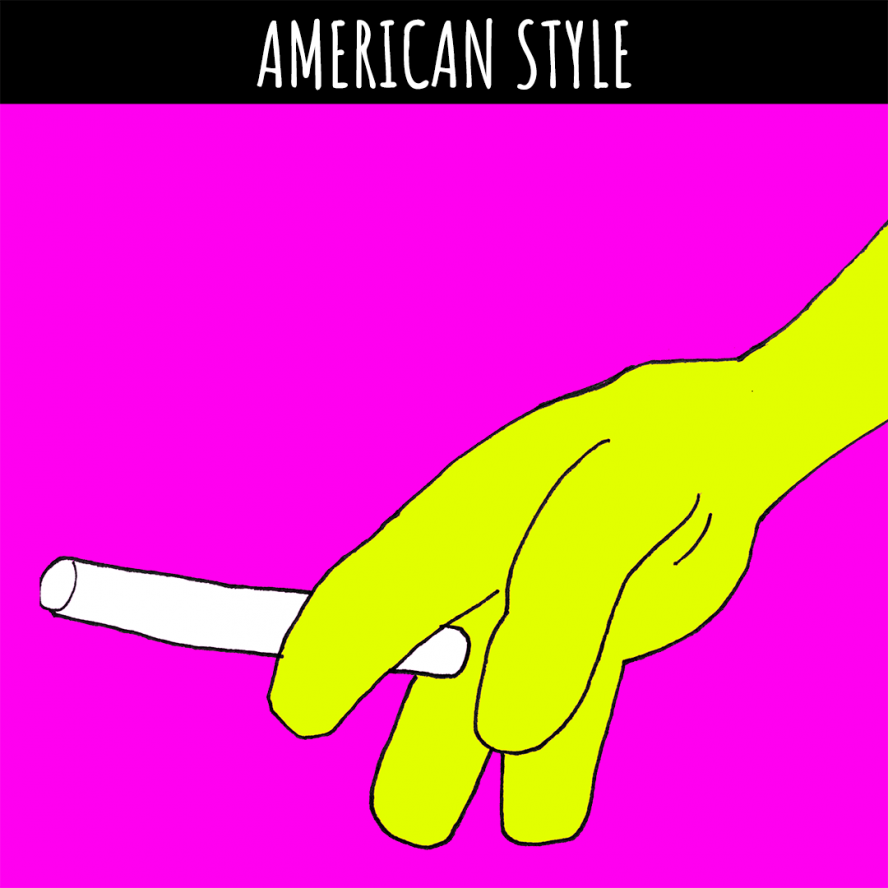 coyote smoking American style