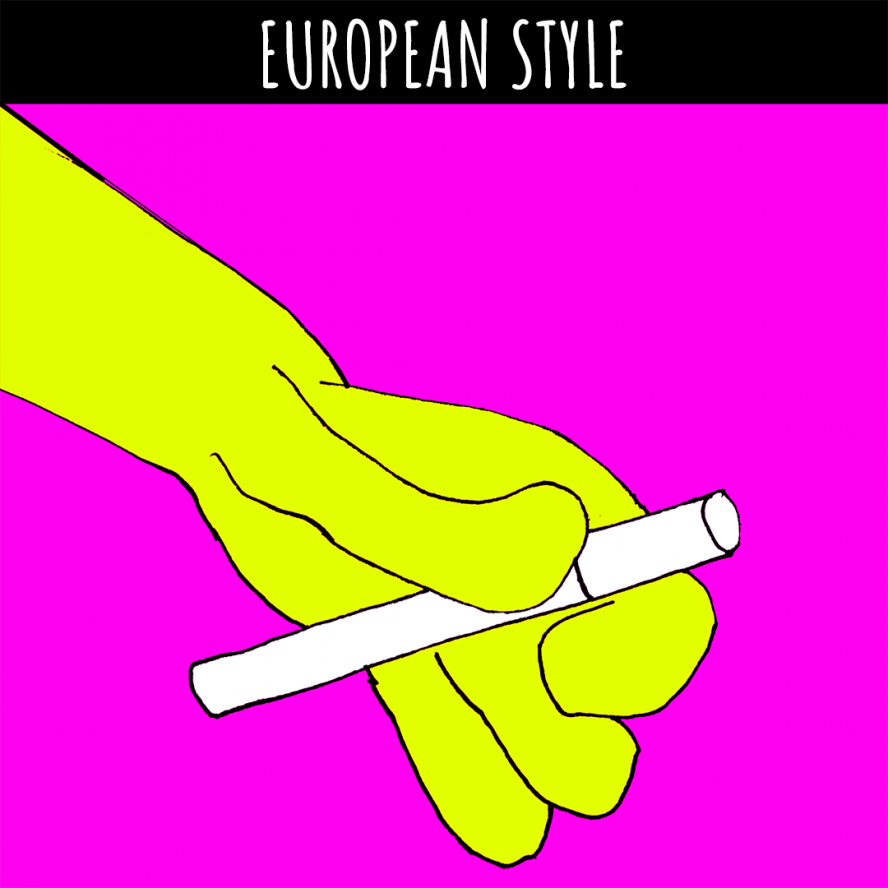 coyote smoking European style