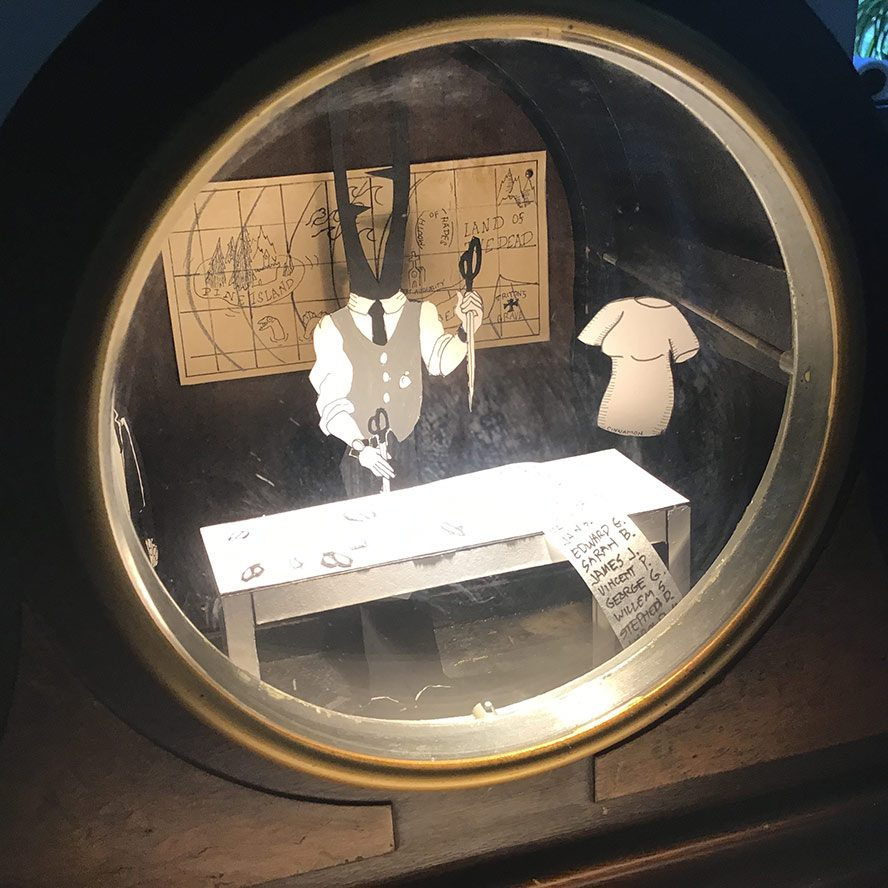 A look inside the clock window