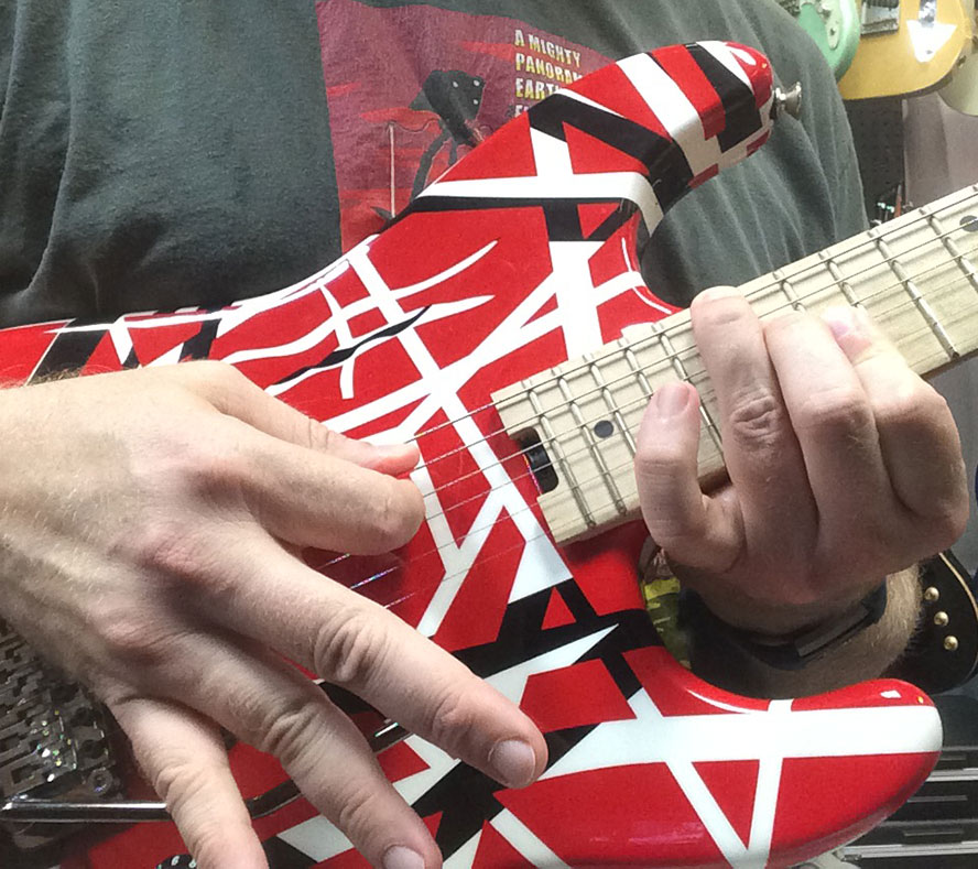 Me playing an Eddie Van Halen guitar