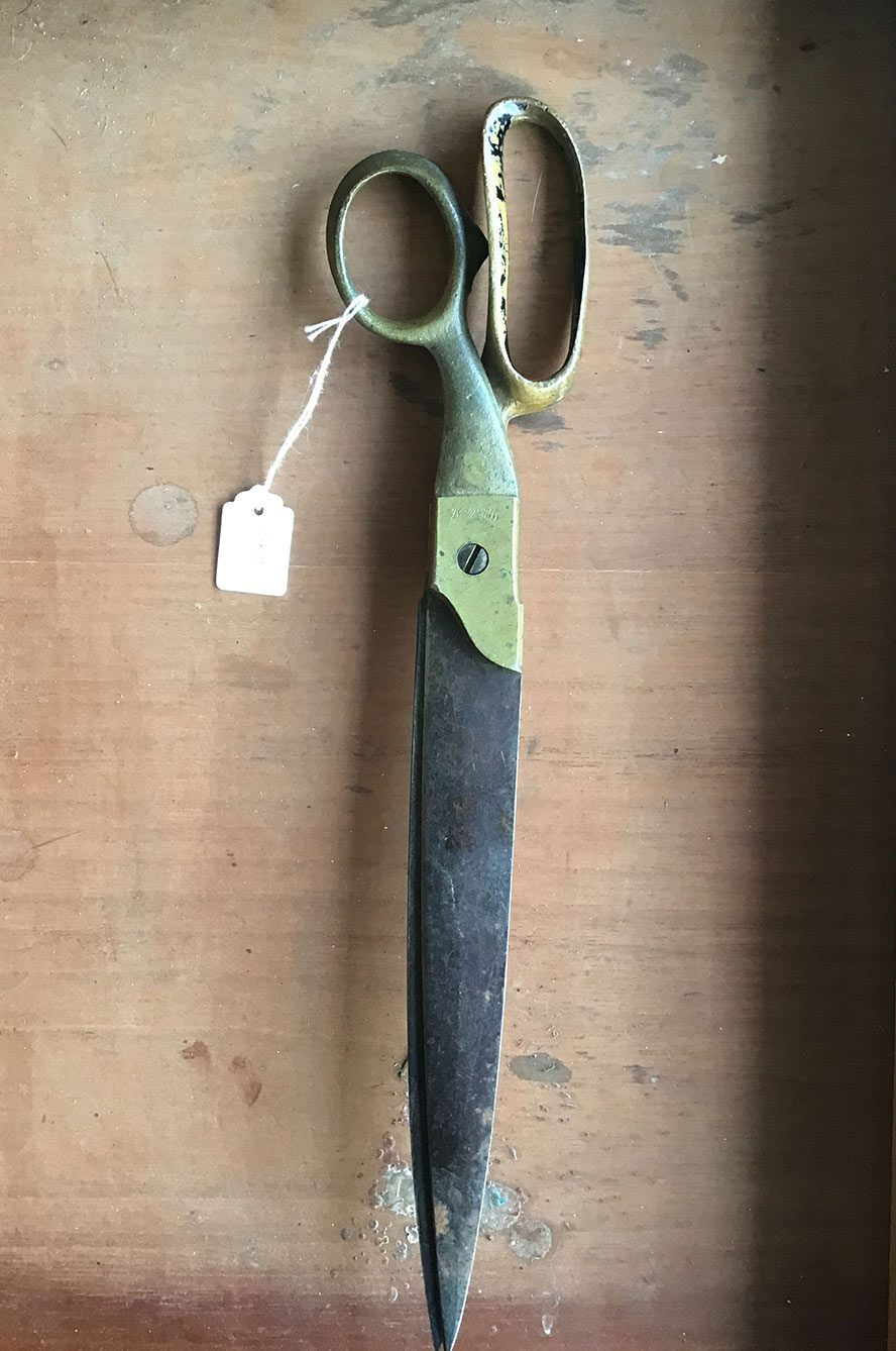vintage weathered scissors