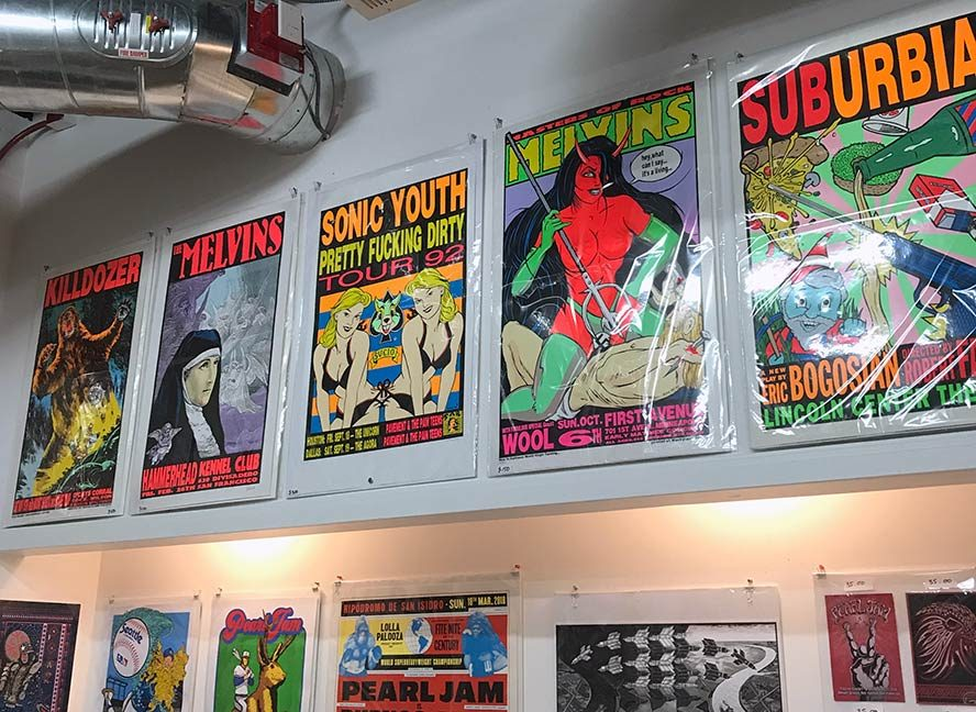 more Brightly colored tour posters