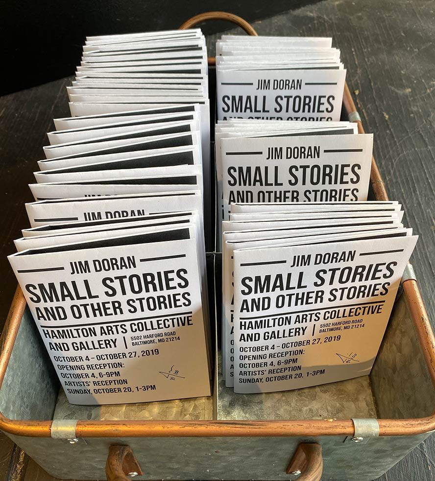 Small Stories Zines in a basket