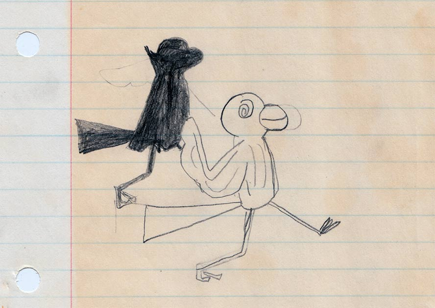 Crow-dude, a character of my own invention.