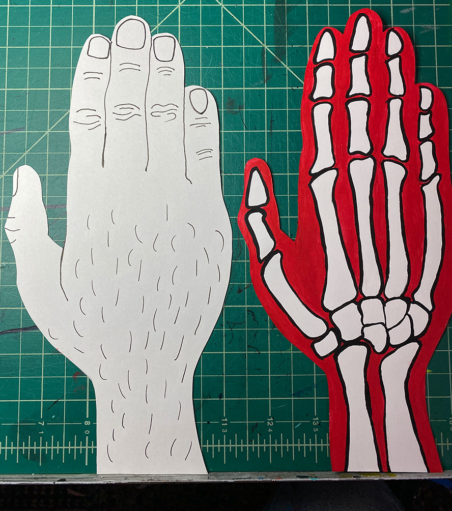 Hand puppets.