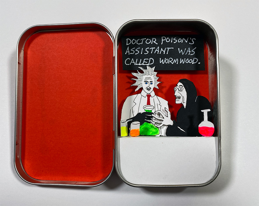 Altoid Diorama with mad scientists
