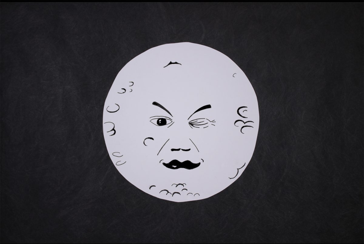 Drawing of the moon