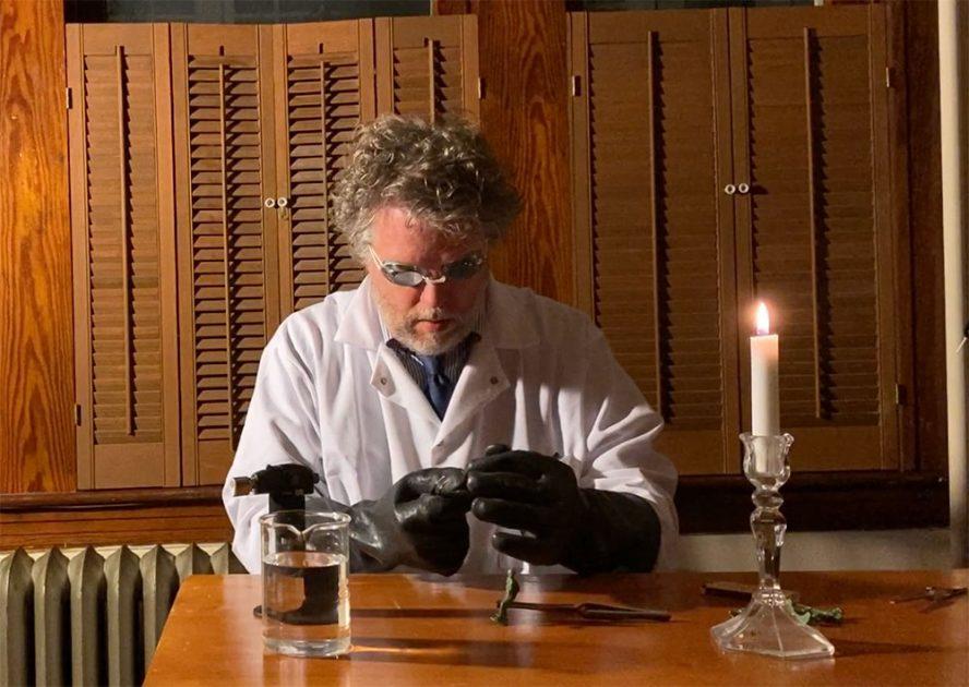 Jim Doran doing science