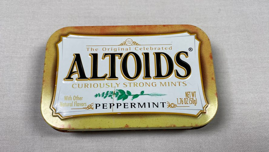 Faded Altoid box