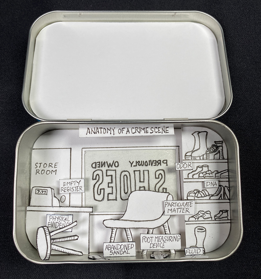 A shoe store inside an Altoids Tin