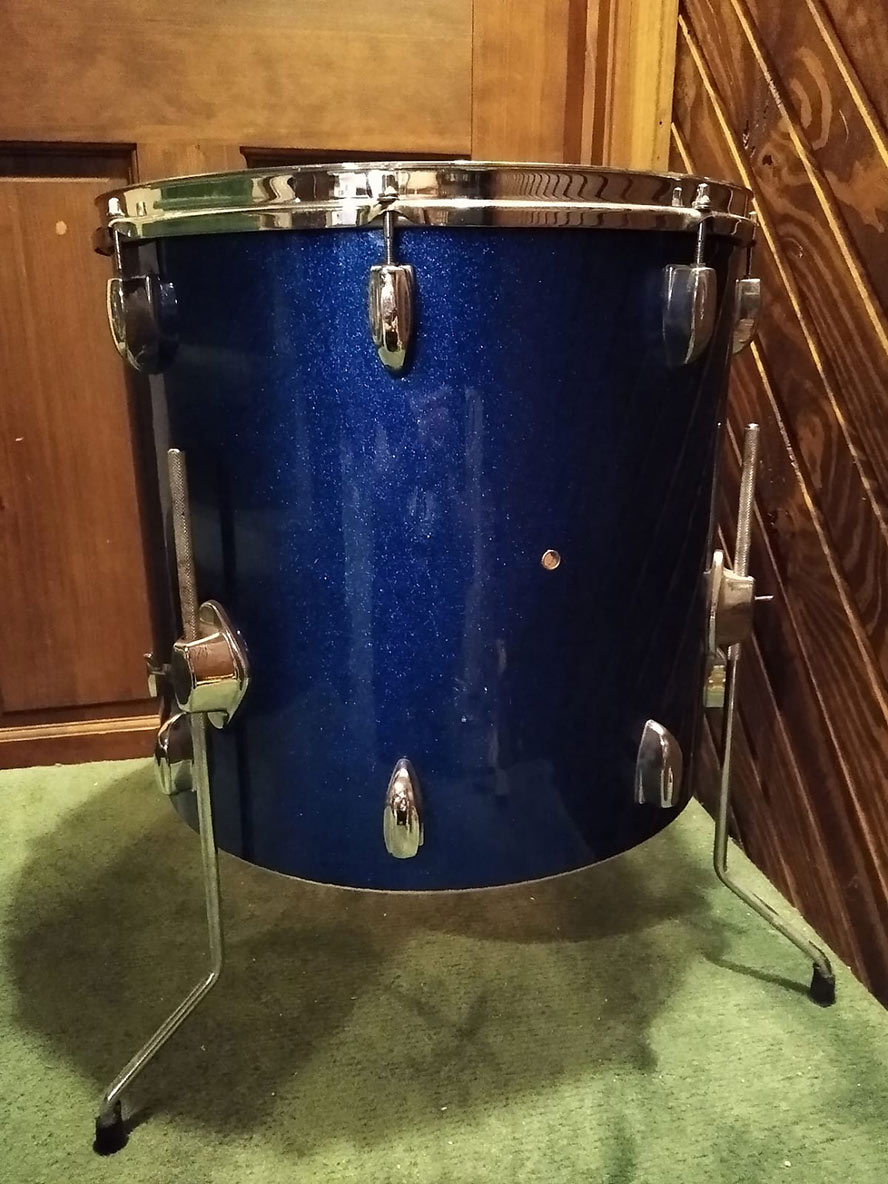 Blue Sparkle floor tom