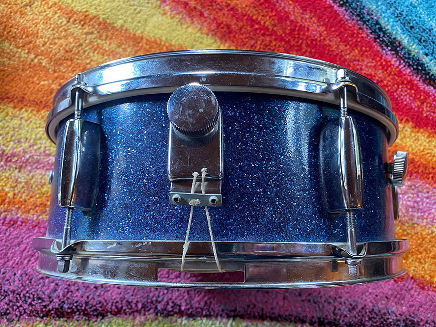 Blue Sparkle Snare drum