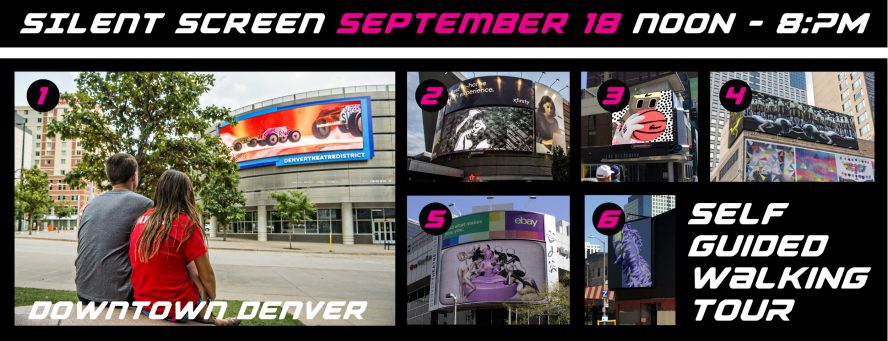 Silent Screen September 18th, noon -8PM, downtown Denver.